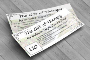 Gift of therapy certificates can be printed at home or delivered
